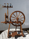 Harry Pouncey Craigdarroch spinning wheel