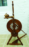 Peter Teal upright spinning wheel