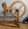 Frank Herring & Sons spinning wheel, bent plywood frame